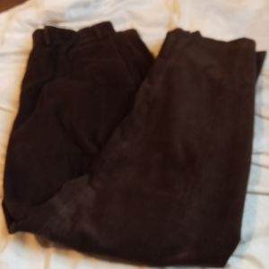 VTG Pleated Brown Relaxed Baggy Corduroy Pants 90s Dress Eddie Bauer 38 x 32